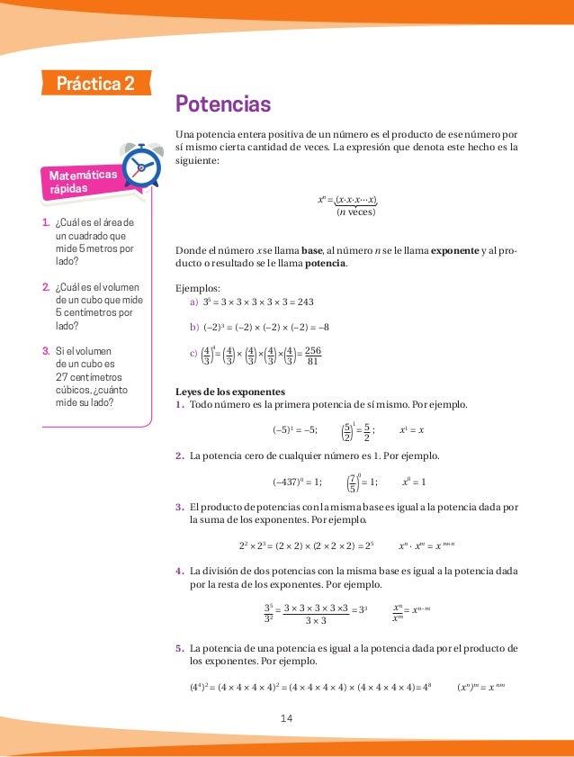 15 ¿Qué relación tienen el producto de dos números que son inversos multiplicativos y la potencia 0? Pregunta de reflexión...