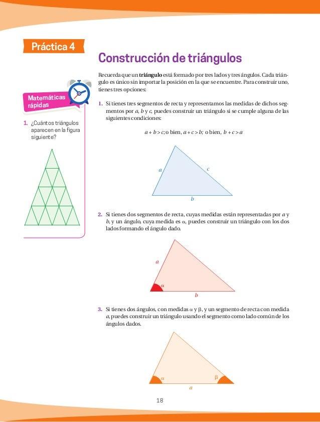 19 Actividades Si tenemos las medidas de tres ángulos, cuya suma sea 180°, ¿se puede construir un triángulo que sea único?...