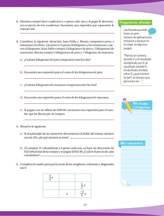 38 Sumas y restas de polinomios Práctica 11 Matemáticas rápidas 1. Encuentra el área del cuadrado interior: t 1 Al sumar ...