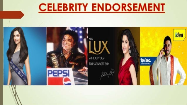 Celebrity Endorsement: An advertising campaign involving a well known person to promote a product or service.