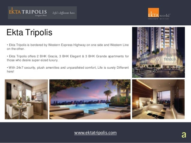 Features And Amenities At Ekta Tripolis Residential Project
