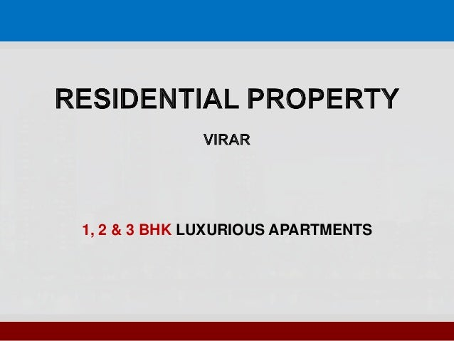 1, 2 & 3 BHK LUXURIOUS APARTMENTS