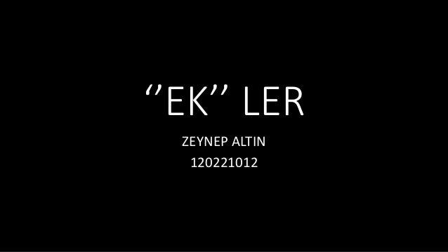 ''EK'' LER  ZEYNEP ALTIN  120221012