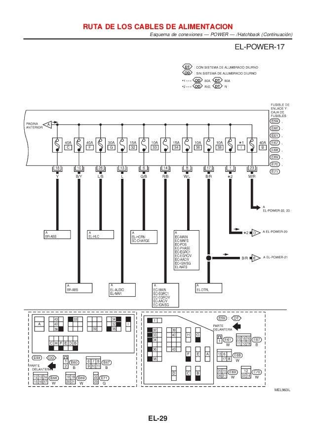 El Manual de taller de Nissan almera modelo m16 sistema