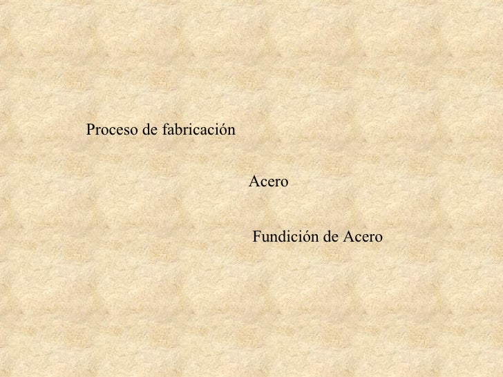 Proceso de fabricación Acero Fundición de Acero