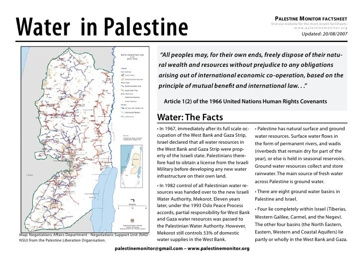 Water in Palestine                                                                                                        ...