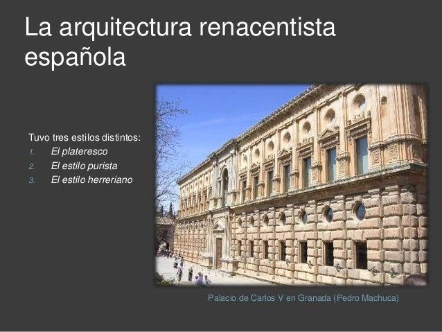 El arte en la espa a del siglo xvi for La arquitectura en espana