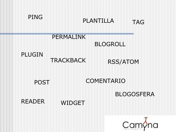 PING TRACKBACK BLOGROLL POST COMENTARIO PLANTILLA PLUGIN WIDGET RSS/ATOM READER PERMALINK BLOGOSFERA TAG