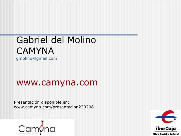 Gabriel del Molino CAMYNA [email_address] www.camyna.com Presentación disponible en: www.camyna.com/presentacion220208