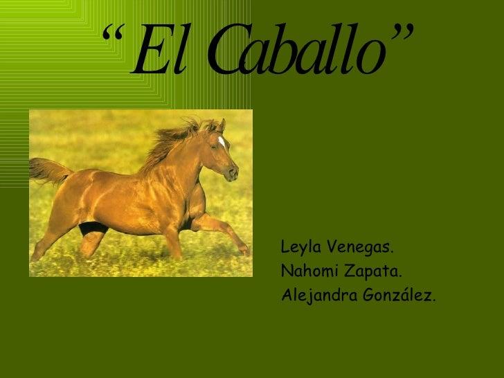 """""""  El Caballo"""" <ul><li>Leyla Venegas. </li></ul><ul><li>Nahomi Zapata. </li></ul><ul><li>Alejandra González. </li></ul>"""