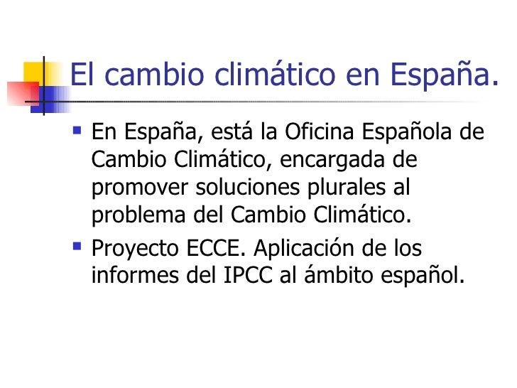 El cambio clim tico en espa a bis - Oficina espanola de cambio climatico ...