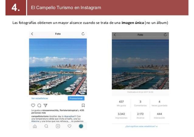 Las fotografías obtienen un mayor alcance cuando se trata de una imagen única (no un álbum) El Campello Turismo en Instagr...