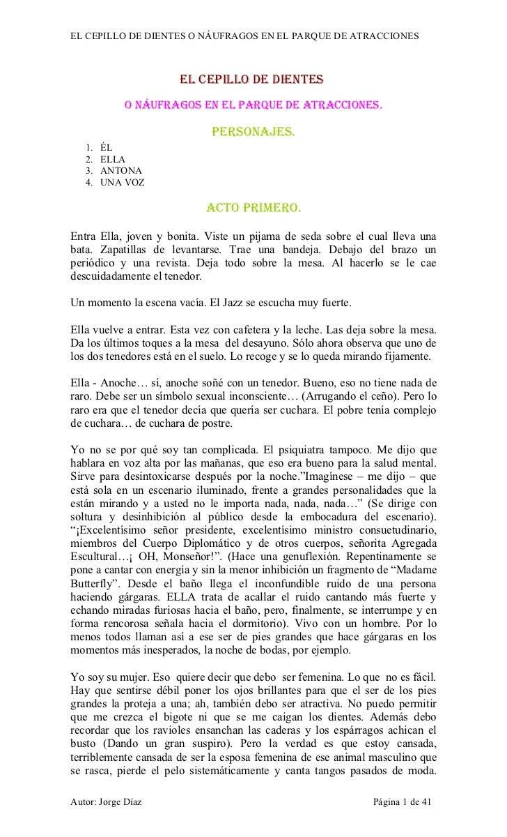 EL CEPILLO DE DIENTES O NÁUFRAGOS EN EL PARQUE DE ATRACCIONES                       EL CEPILLO DE DIENTES            O NÁU...