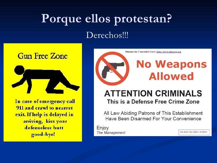 Porque ellos protestan? Derechos!!!