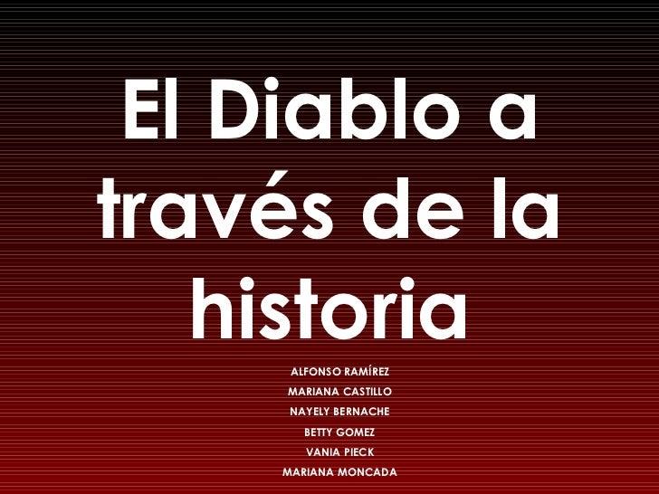 El Diablo a través de la historia ALFONSO RAMÍREZ MARIANA CASTILLO NAYELY BERNACHE BETTY GOMEZ VANIA PIECK MARIANA MONCADA