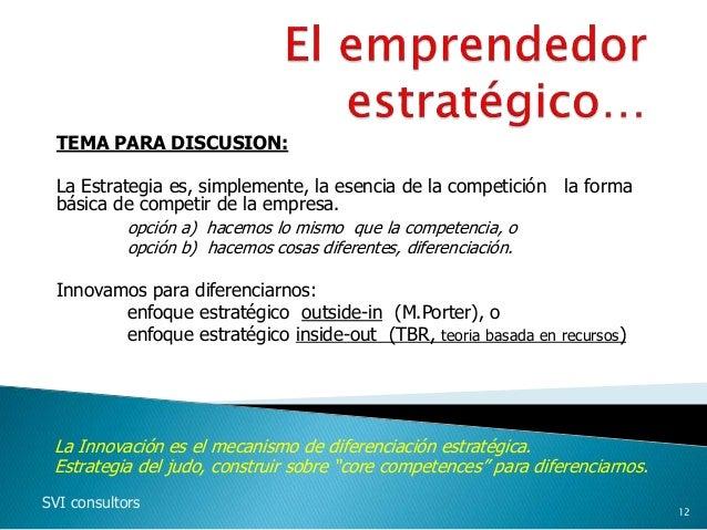 TEMA PARA DISCUSION: La Estrategia es, simplemente, la esencia de la competición la forma básica de competir de la empresa...