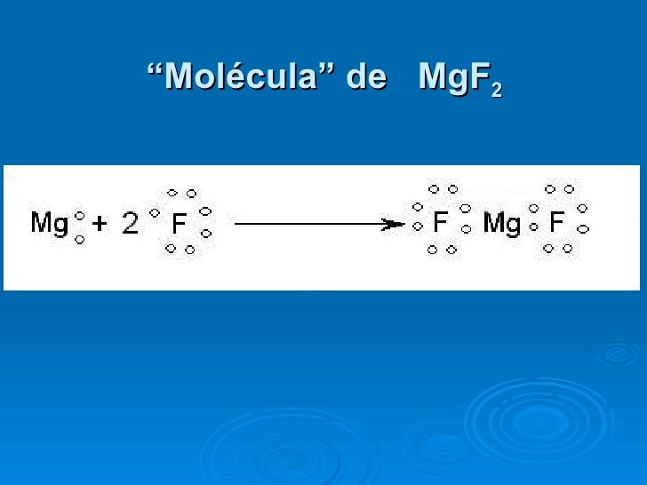 """"""" Molécula"""" de  MgF 2"""