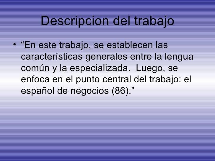 El EspañOl Con Fines EspecíFicos Presentacion Slide 3