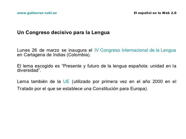 El español en la Web 2.0 Slide 3