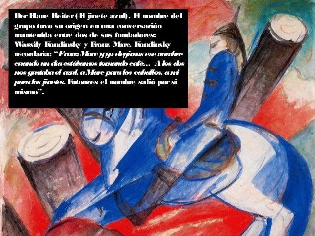 En 1911 Kandinsky y Marc fundaron DerBlaue Reiter. Realizaron una serie de exposiciones en Munich y Berlín. Los miembros d...