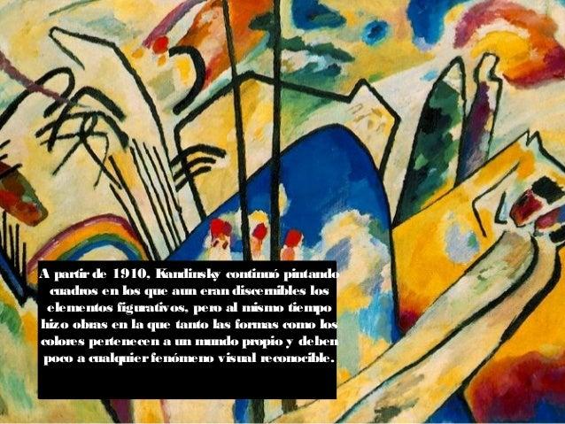 """Kandinsky utiliza la palabra GEISTIG, traducido como """"espiritual"""" para describirlos elementos irreal de su pintura. Deseo ..."""