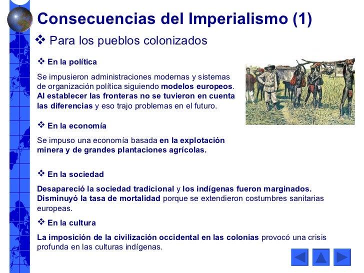 Consecuencias del Imperialismo (1) <ul><li>Para los pueblos colonizados </li></ul><ul><li>En la política </li></ul><ul><li...