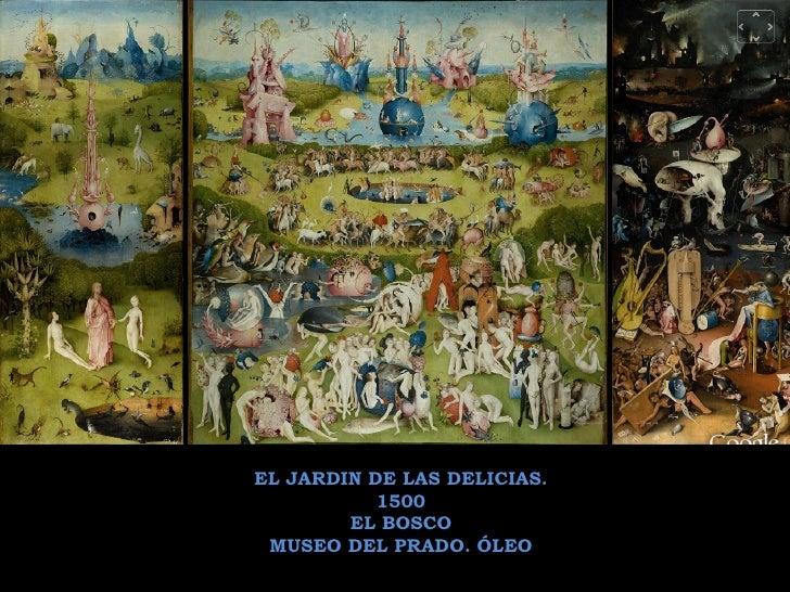 EL JARDIN DE LAS DELICIAS. 1500 EL BOSCO MUSEO DEL PRADO. ÓLEO