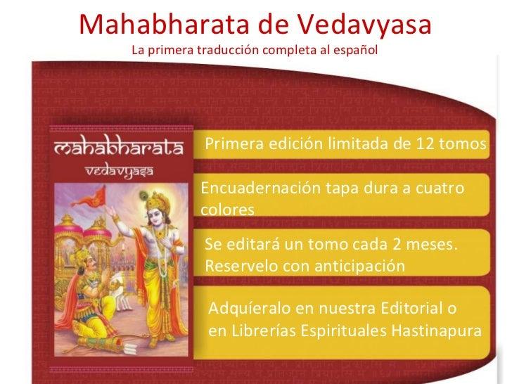 Mahabharata de Vedavyasa La primera traducción completa al español Primera edición limitada de 12 tomos Encuadernación tap...