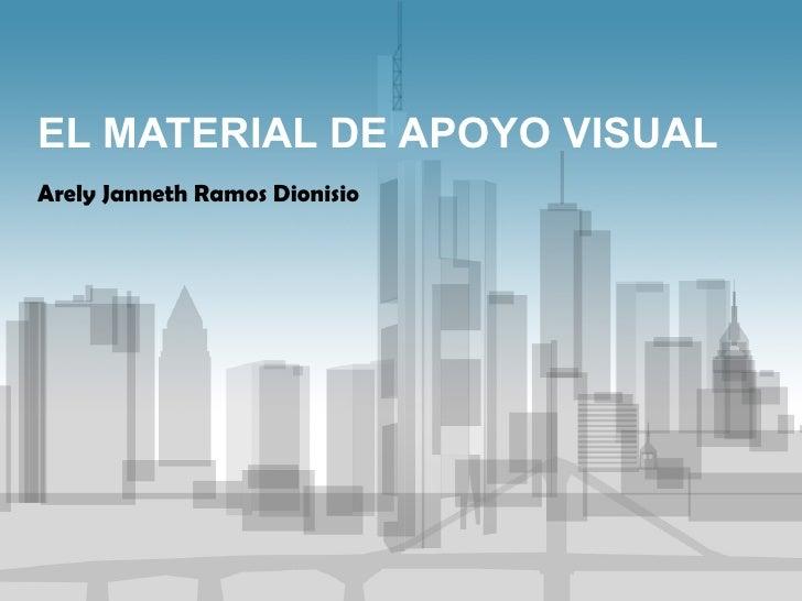 EL MATERIAL DE APOYO VISUAL Arely Janneth Ramos Dionisio