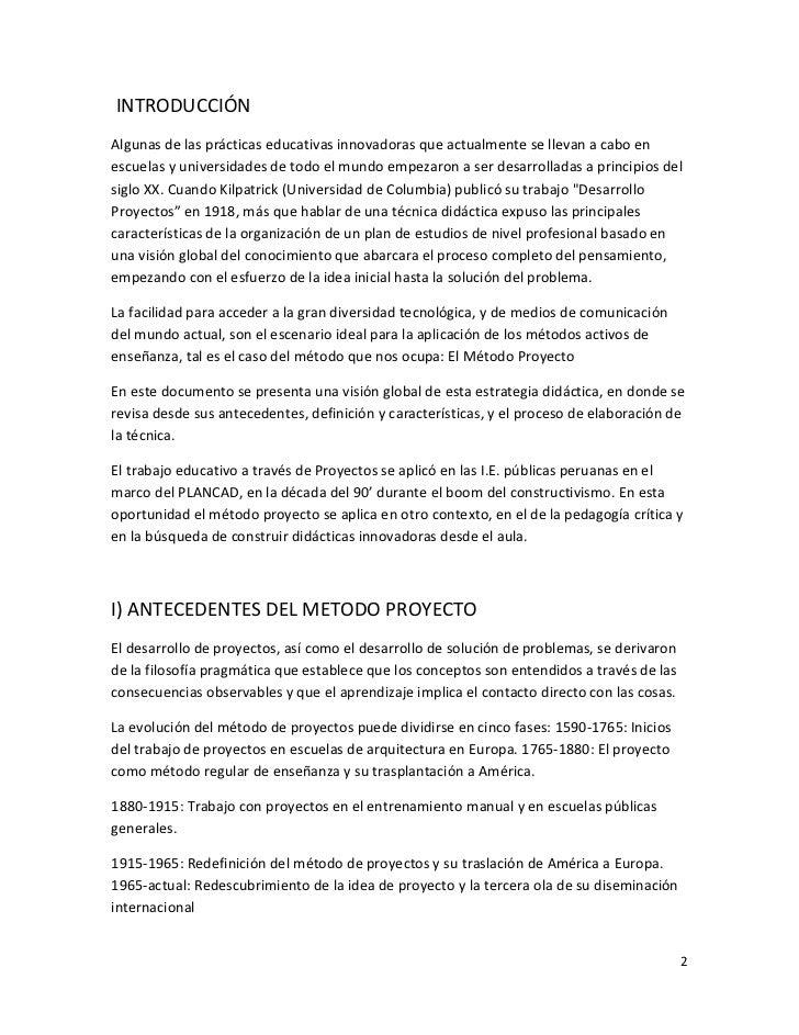 EL MÉTODO PROYECTO Slide 3
