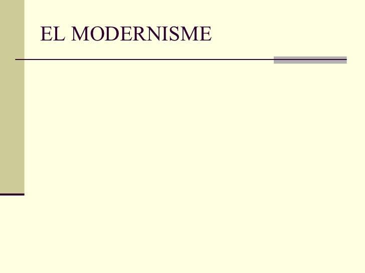 EL MODERNISME