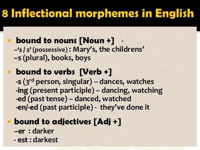 past tense morpheme A morpheme is a unit of sound just as an allophone is a variation of a single phoneme, an allomorph is a variety of a single morpheme.