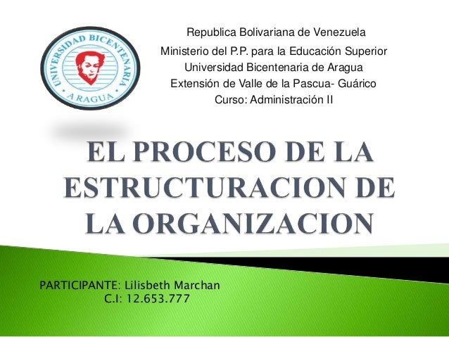 Republica Bolivariana de Venezuela Ministerio del P.P. para la Educación Superior Universidad Bicentenaria de Aragua Exten...