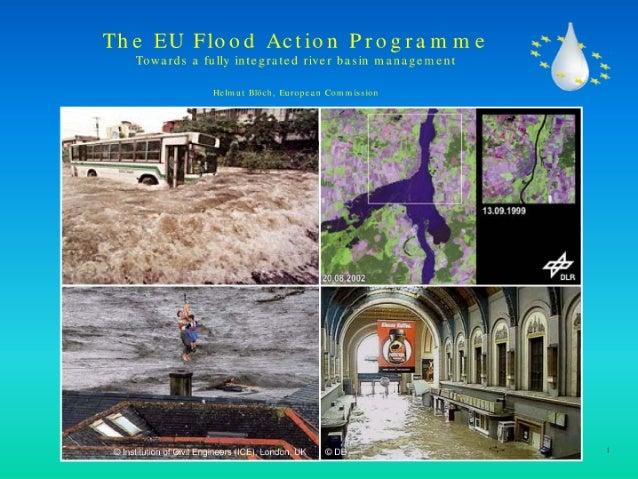 El programa de acción contra las inundaciones de la UE