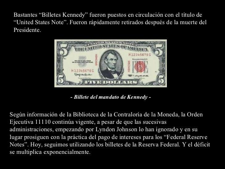 """Bastantes """"Billetes Kennedy"""" fueron puestos en circulación con el título de """"United States Note"""". Fueron rápidamente retir..."""