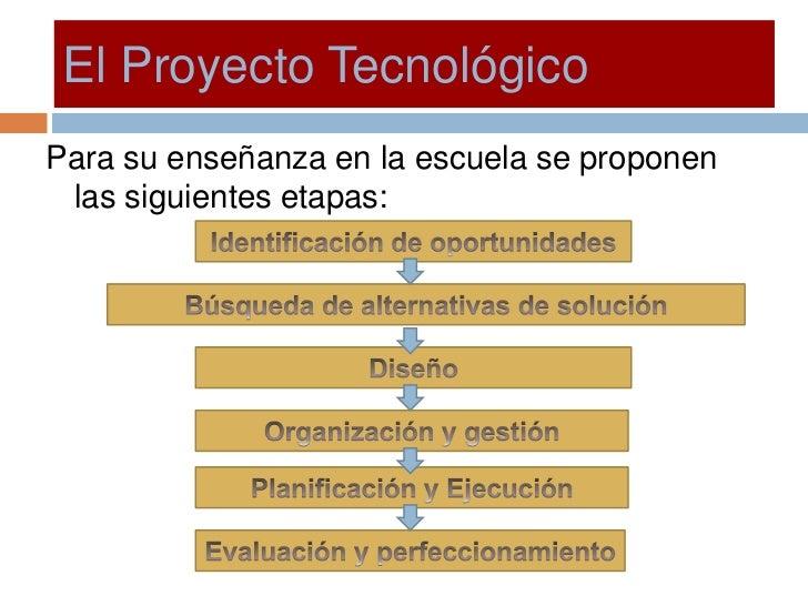 El Proyecto Tecnologico Slide 3
