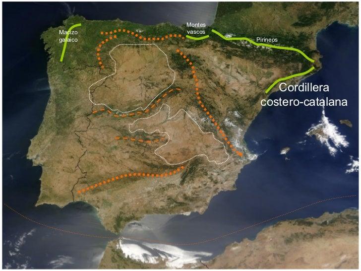 Macizo galaico Montes vascos Pirineos Cordillera costero-catalana