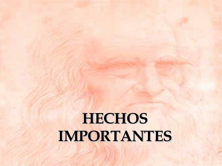 HECHOS IMPORTANTES