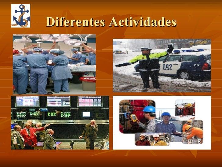 Diferentes Actividades