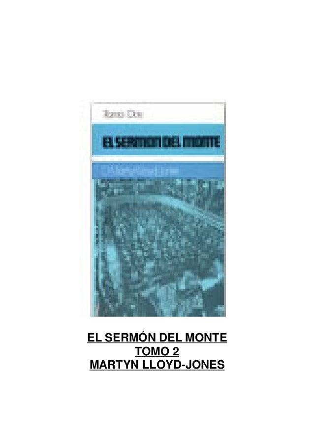 EL SERMÓN DEL MONTE TOMO 2 MARTYN LLOYD-JONES