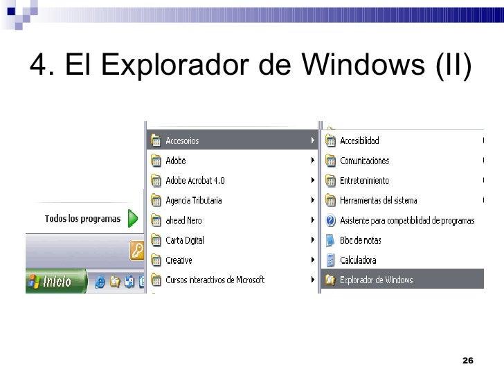 4. El Explorador de Windows (II)