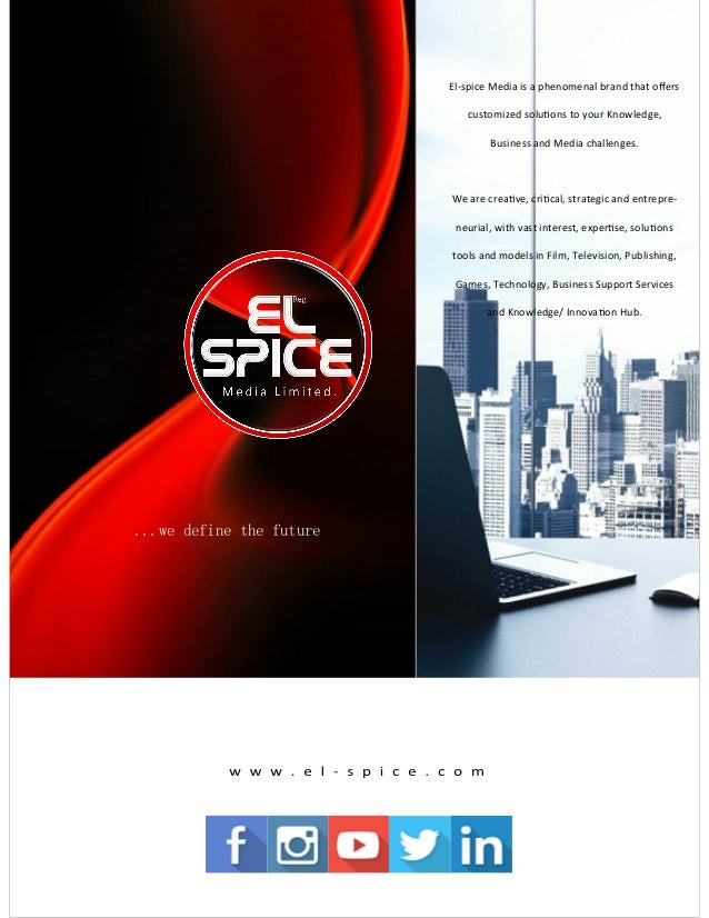El-spice Media is a phenomenal brand that offers customized solutions to your Knowledge, Business and Media challenges. We...