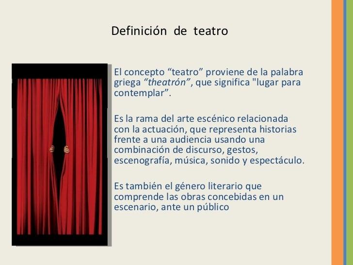 El teatro 1 for Definicion de espectaculo