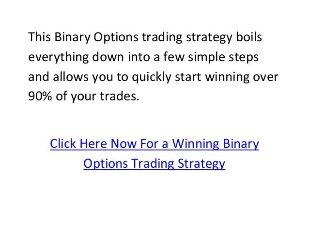 Winning binary option strategy