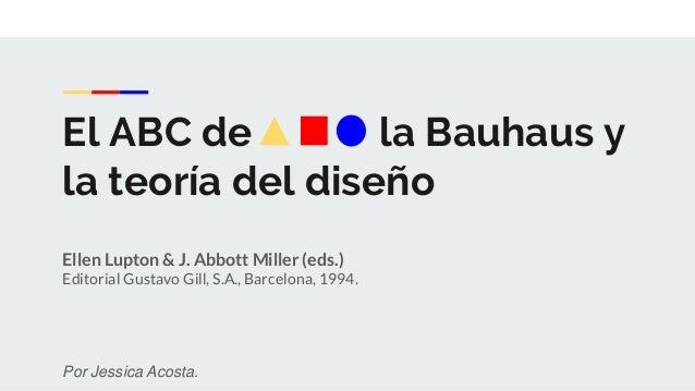 El ABC de la Bauhaus y la teoría del diseño