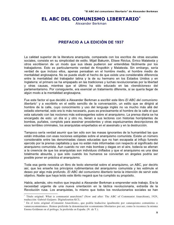 """""""El ABC del comunismo libertario"""" de Alexander Berkman                EL ABC DEL COMUNISMO LIBERTARIO*                    ..."""