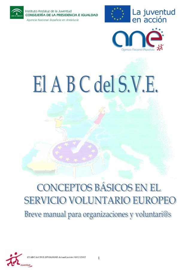 Instituto Andaluz de la Juventud CONSEJERÍA DE LA PRESIDENCIA E IGUALDAD Agencia Nacional Española en Andalucía  El ABC de...