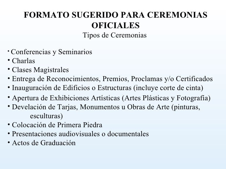 El Abc De Una Ceremonia O Acto Oficial 2010 Fkiii