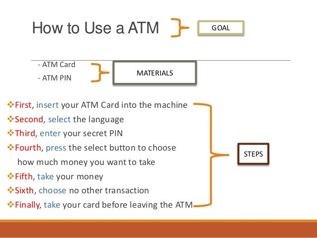 how to use atm machine