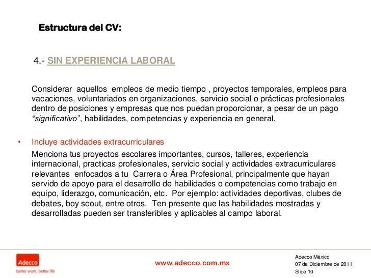 ElaboracióN Cv Profesionistas Con Sin Exp (2)